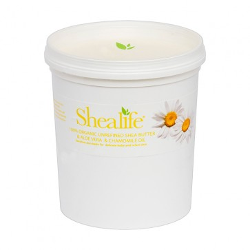 Shea Life100% Organic Unrefined Shea Butter, with Aloe Vera Oil & Chamomile Oil,  1Kg