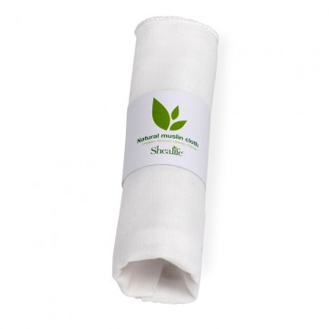 Muslin Face Cloth, Gentle Wash, Cleanse, Remove Make Up and Exfoliate, 100% Natural Egyptian Cotton. X 1 Units